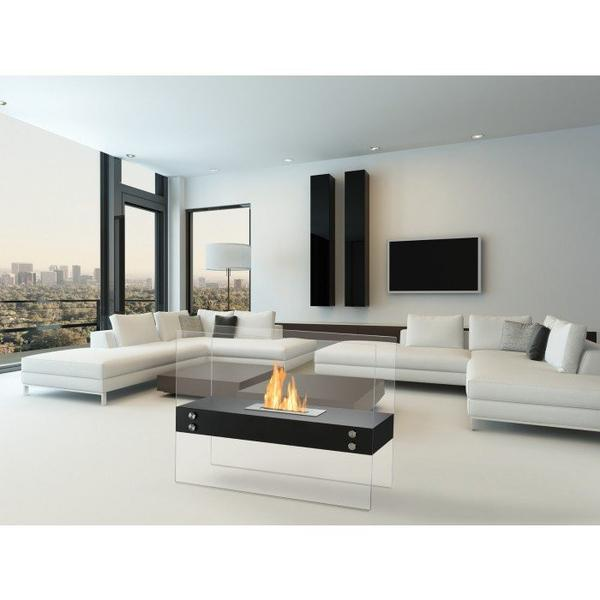 Vitrum H Freestanding Bio Ethanol Fireplace - Soothing Company