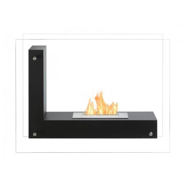 Vitrum L Freestanding Bio Ethanol Fireplace - Soothing Company