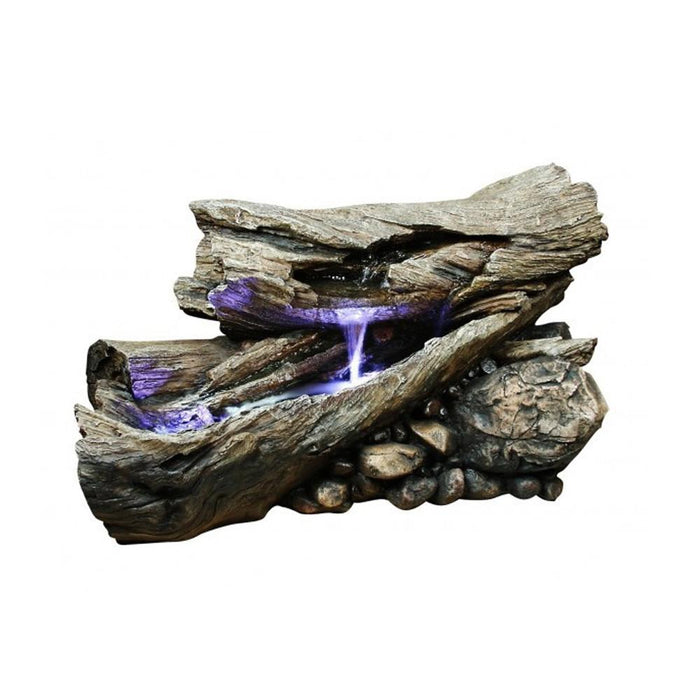 Rainforest Waterfall Logs with LED lights - Soothing Company