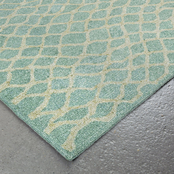 Liora Manne Wooster Twist Aqua Area Rug - Soothing Company