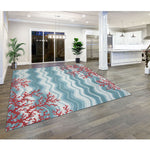 Liora Manne Visions IV Coral Reef Water Area Rug - Soothing Company