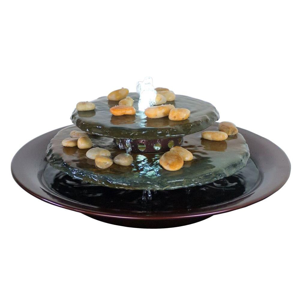 Water Wonders Tranquility Pool Tabletop Fountain Dark Copper Finish