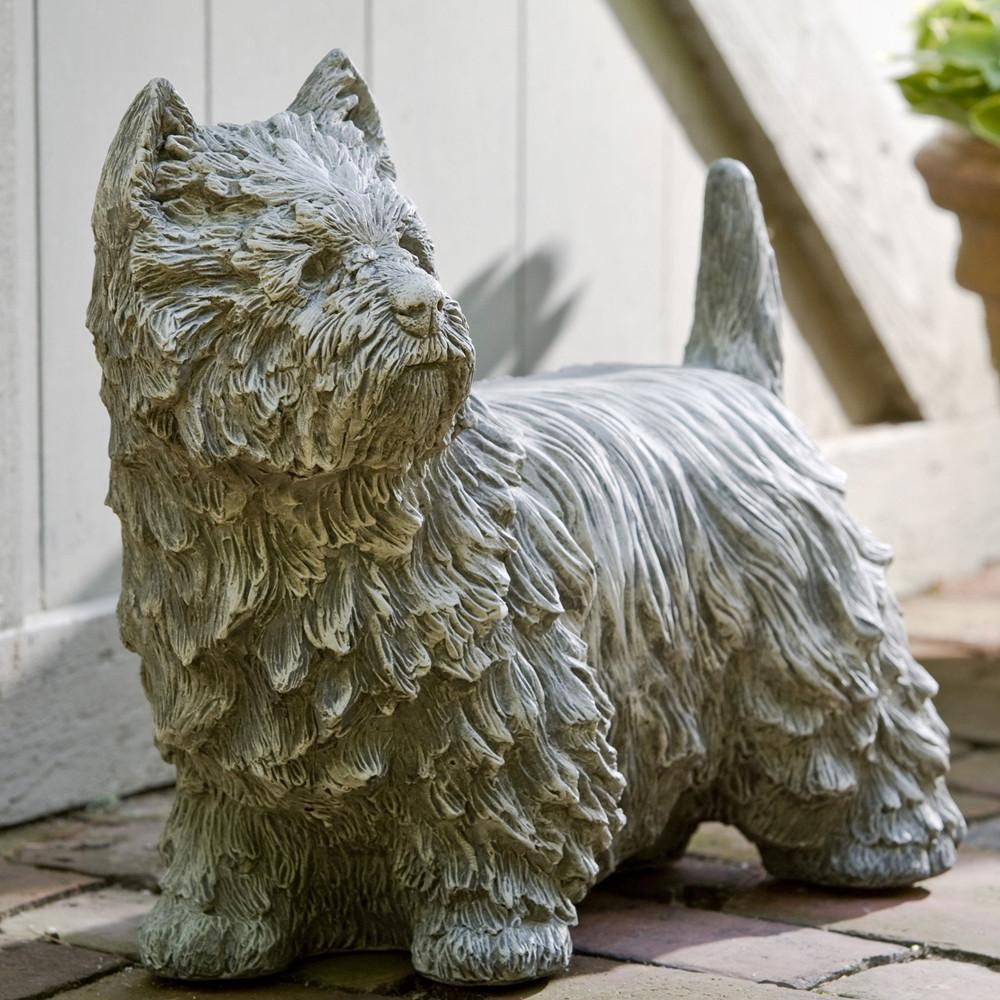Westie Cast Stone Garden Statue - Soothing Company