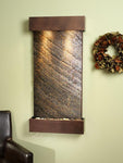 Whispering Creek: Green FeatherStone and Copper Vein Trim