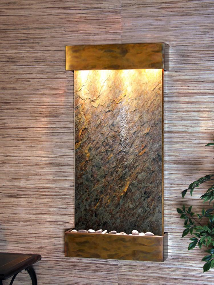 Whispering Creek: Green Featherstone and Rustic Copper Trim