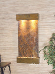 Whispering Creek: Rainforest Brown Marble and Rustic Copper Trim