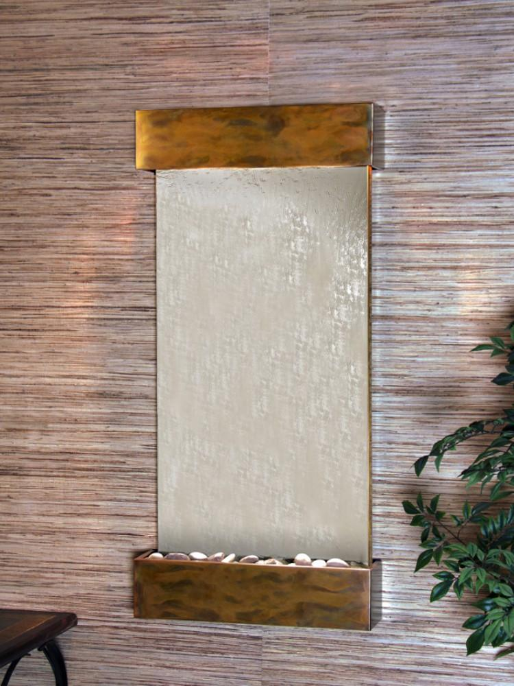 Whispering Creek: Silver Mirror and Rustic Copper Trim