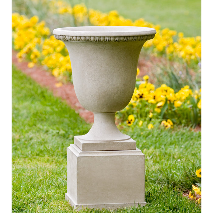 Williamsburg Egg & Dart Urn On Classic Short Pedestal - Soothing Company