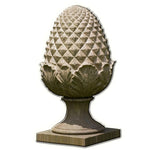 Williamsburg Grand Pinecone Cast Stone Garden Statue - Soothing Company