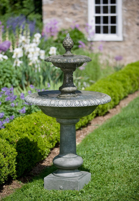 Williamsburg Pineapple 2 Tier Garden Water Fountain - Soothing Company