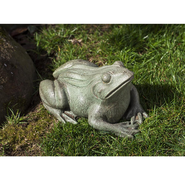 Woodland Frog Cast Stone Garden Statue - Soothing Company