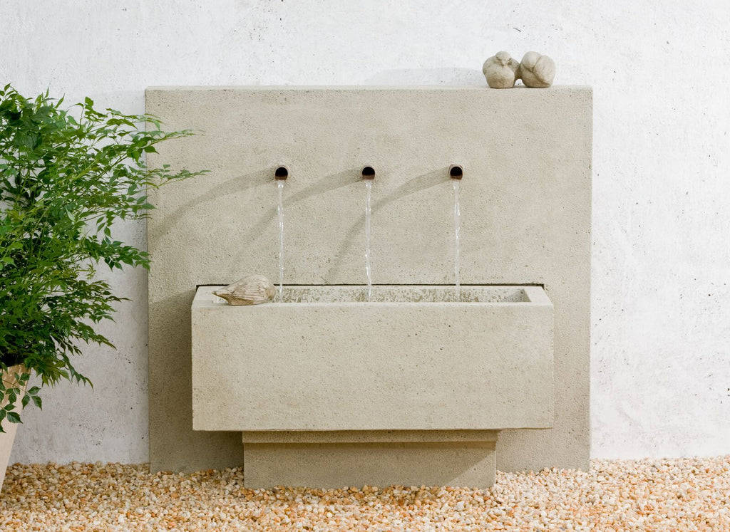 X3 Outdoor Wall Water Fountain - Soothing Company