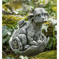 Whimper Cast Stone Garden Statue - Soothing Company