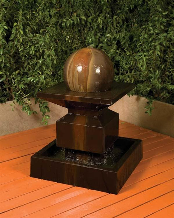 Alaster Outdoor Fountain with Ball - Soothing Walls