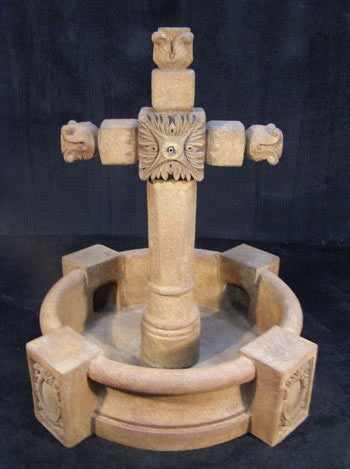 Ancient Cross Fountain with Pool