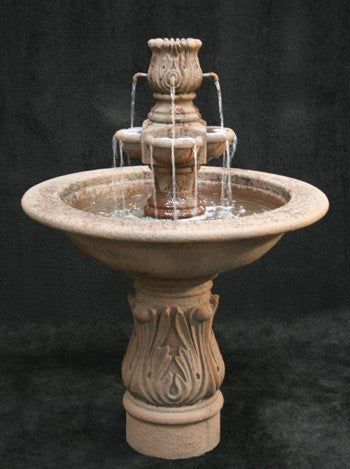 Assisi Garden Water Fountain with Smooth Cobra Pedestal
