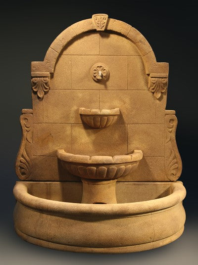 Bavarian Wall Fountain with Plain Basin
