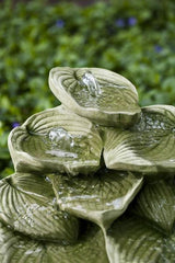 Cascading Hosta Leaf Water Fountain - Soothing Company