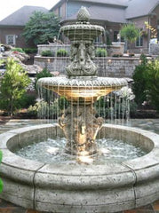 Cavalli Fountain with Fiore Pond