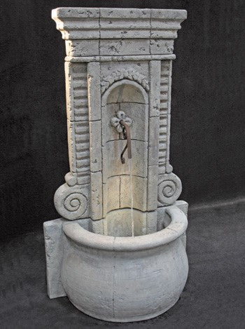 Champagne Outdoor Wall Fountain - Tall