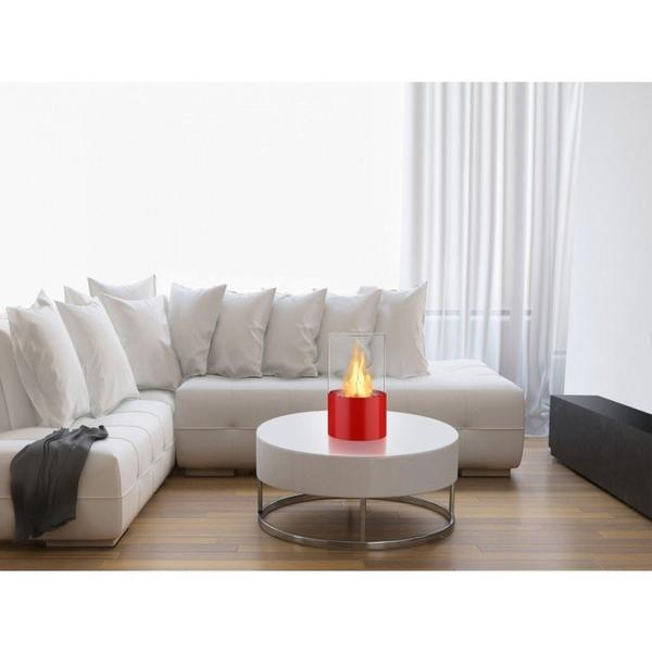 Circum Bio Ethanol Tabletop Fireplace in Red - Soothing Company