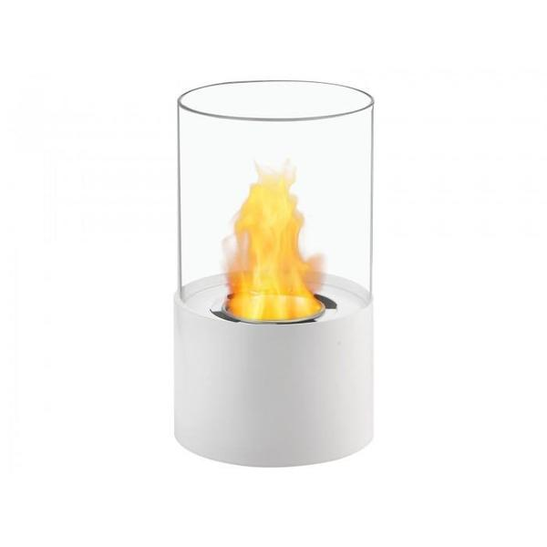 Circum Bio Ethanol Tabletop Fireplace in White - Soothing Company