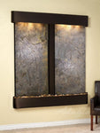 Cottonwood Falls: Green FeatherStone and Blackened Copper Trim with Rounded Corners