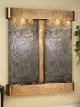 Cottonwood Falls: Green FeatherStone and Rustic Copper Trim with Rounded Corners