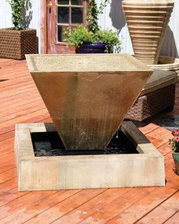 Large Oblique Outdoor Fountain