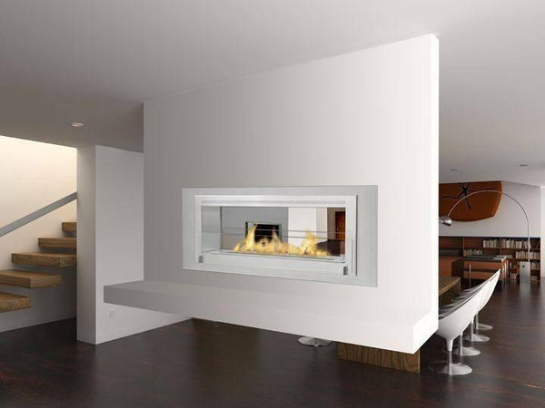 Eco-Feu Santa Cruz 2-Sided Biofuel Fireplace - Soothing Company