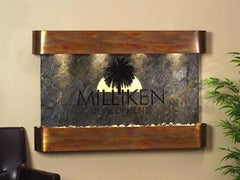 Sunrise Springs Wall Fountain with Logo - Soothing Walls