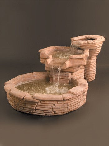 Flagstone Tiered Outdoor Water Fountain