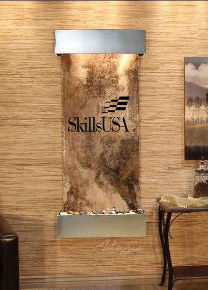 Inspiration Falls Wall Fountain with Logo - Soothing Company