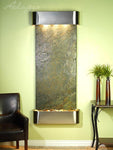 Inspiration Falls: Green Slate and Stainless Steel Trim with Rounded Corners - Soothing Company