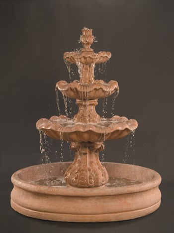 Italian 3-Tier Outdoor Water Fountain with 55
