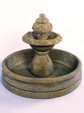 Oak Fountain with 46 inch Basin