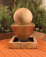 Large Oblique Outdoor Fountain with Ball