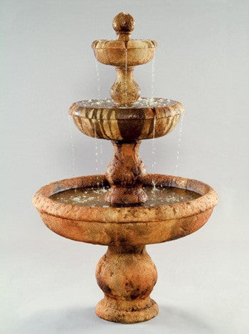 Old Classic 3-Tier Outdoor Water Fountain