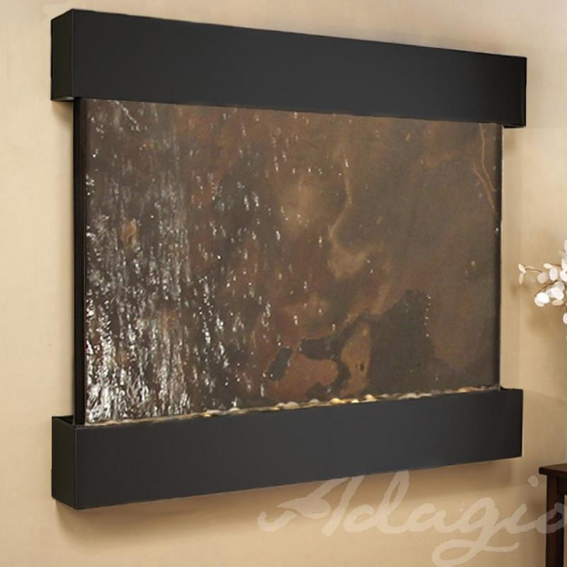 Teton Falls: Multi-Color FeatherStone and Blackened Copper Trim with Squared Corners