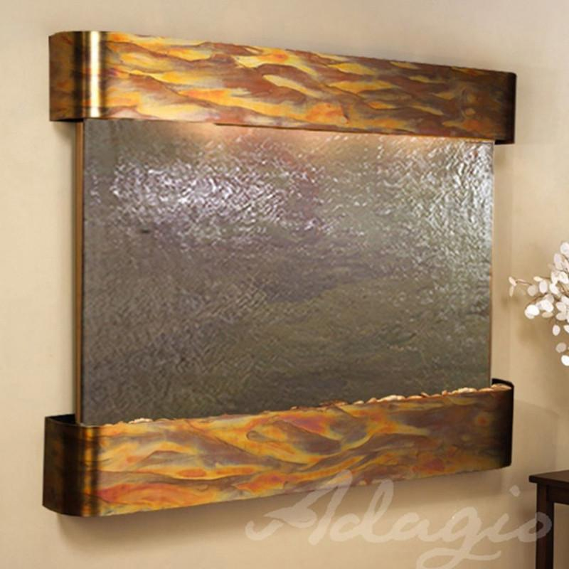Teton Falls: Multi-Color FeatherStone and Rustic Copper Trim with Rounded Corners