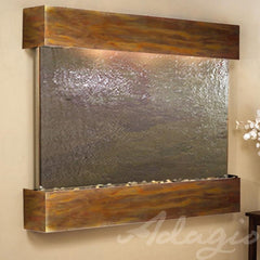 Teton Falls: Multi-Color FeatherStone and Rustic Copper Trim with Squared Corners