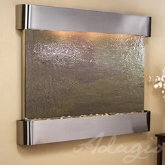 Teton Falls: Multi-Color FeatherStone and Stainless Steel Trim with Rounded Corners