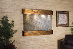 Teton Falls - Green FeatherStone - Rustic Copper - Rounded