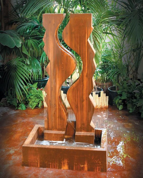 Vertical Canyon Outdoor Fountain - Soothing Walls