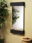 Whispering Creek: Silver Mirror and Textured Black Trim