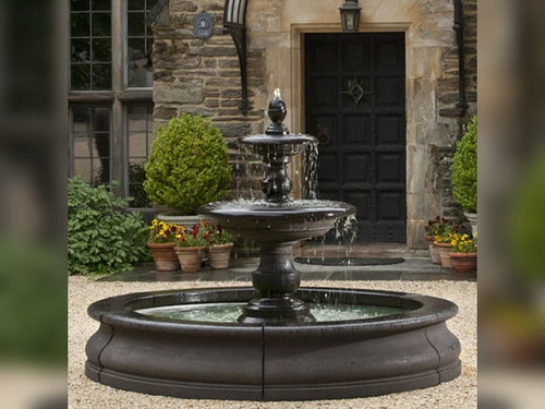 Large Outdoor Fountain with Pool