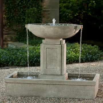 Large outdoor fountains, urn fountains, modern outdoor fountains, fountains with basins