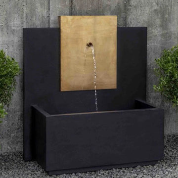 outdoor wall fountains, modern outdoor fountains, spillway fountains, fountains with basins, copper fountains, corten fountains, campania international fountains