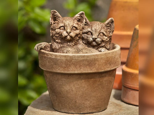 Cats in Pot Statue