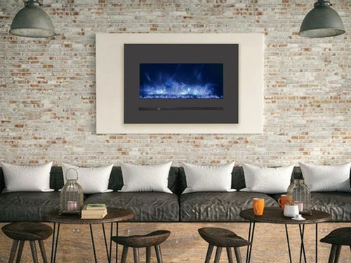 """Sierra Flame 26"""" Linear Electric Fireplace with Steel Front"""